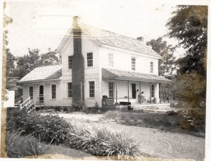 I.W. Snuggs House, located at 112 North Third Street.  Image taken during the house's restoration in May 1975.