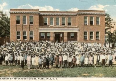 Wiscassett Efird Grade School in Albemarle 1920s