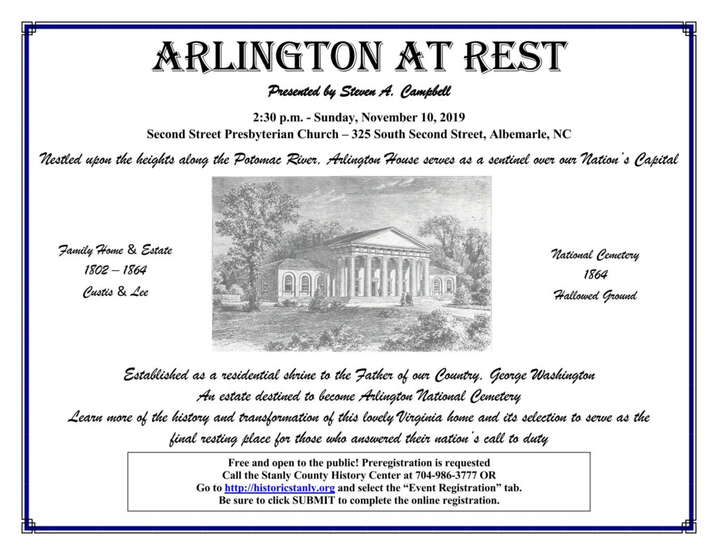 Arlington at Rest – A Historical Society Program