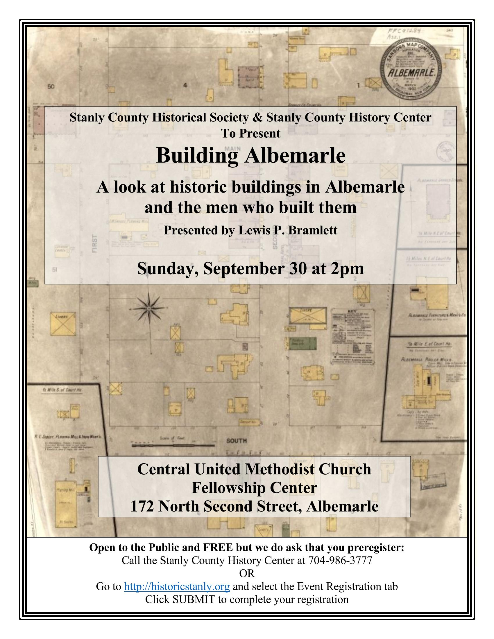 Building Albemarle – A Historical Society Program
