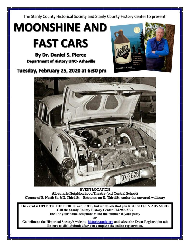 """""""Moonshine and Fast Cars"""" – A Historical Society Event"""