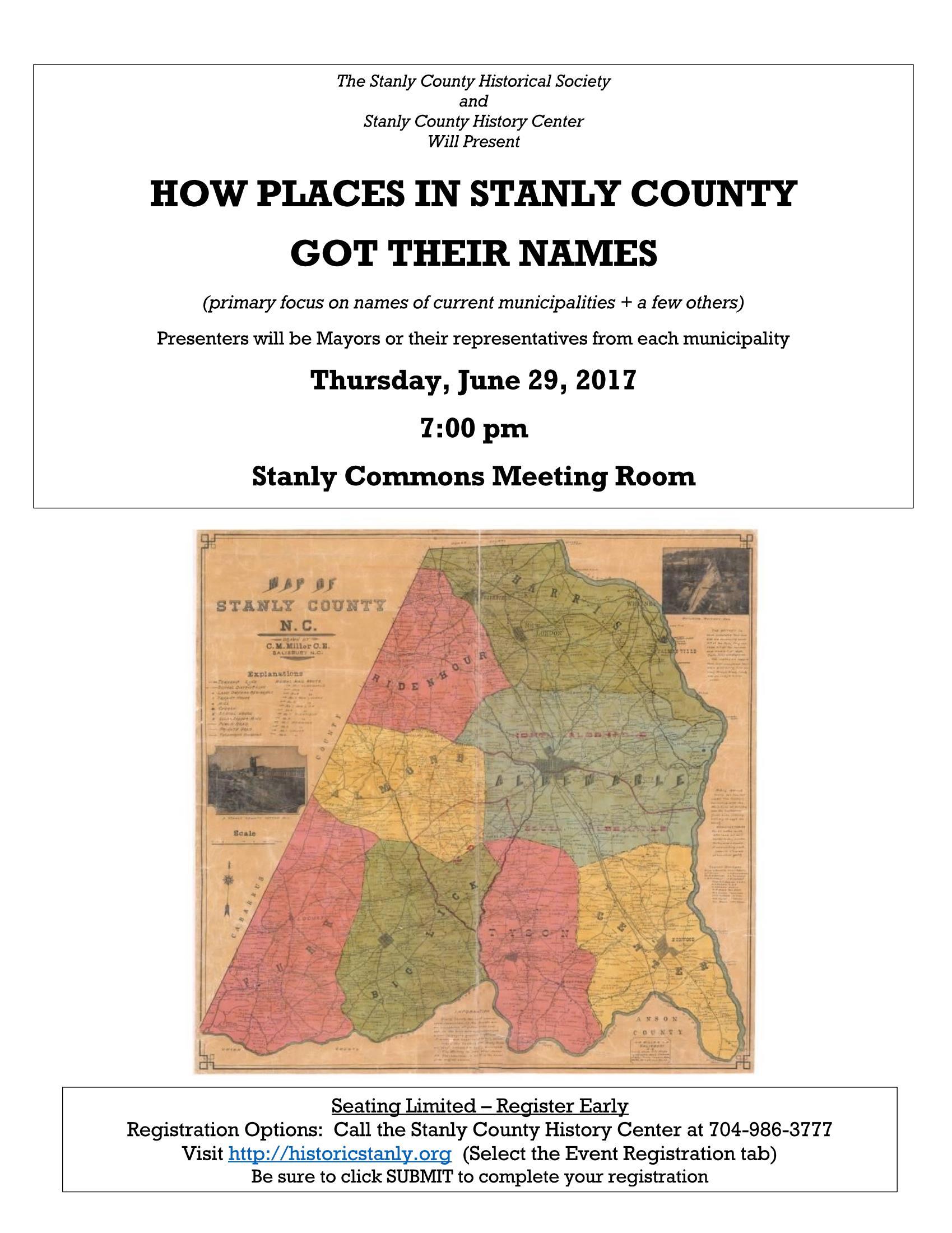 June Historical Society Flyer