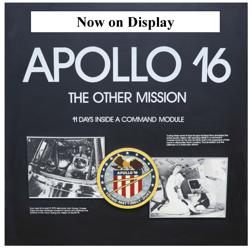 Poster for Apollo 16 Simulation Exhibit