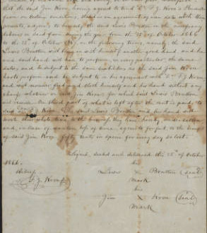 Sharecropping_Contract_between_James_Kron__Lewis_Brutton_side_1