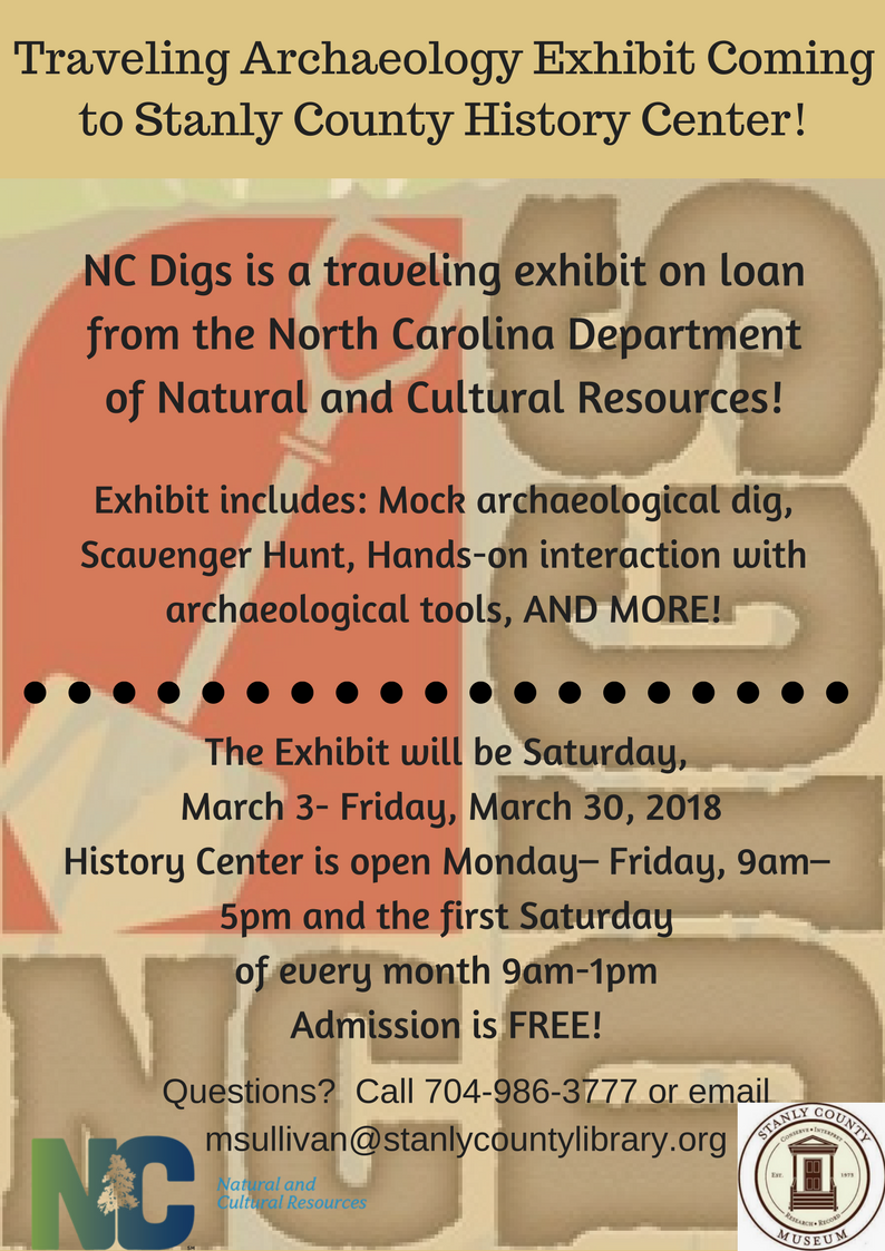 Traveling Archaeology Exhibit Coming to History Center!