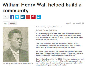 Kingville Community – William Henry Wall