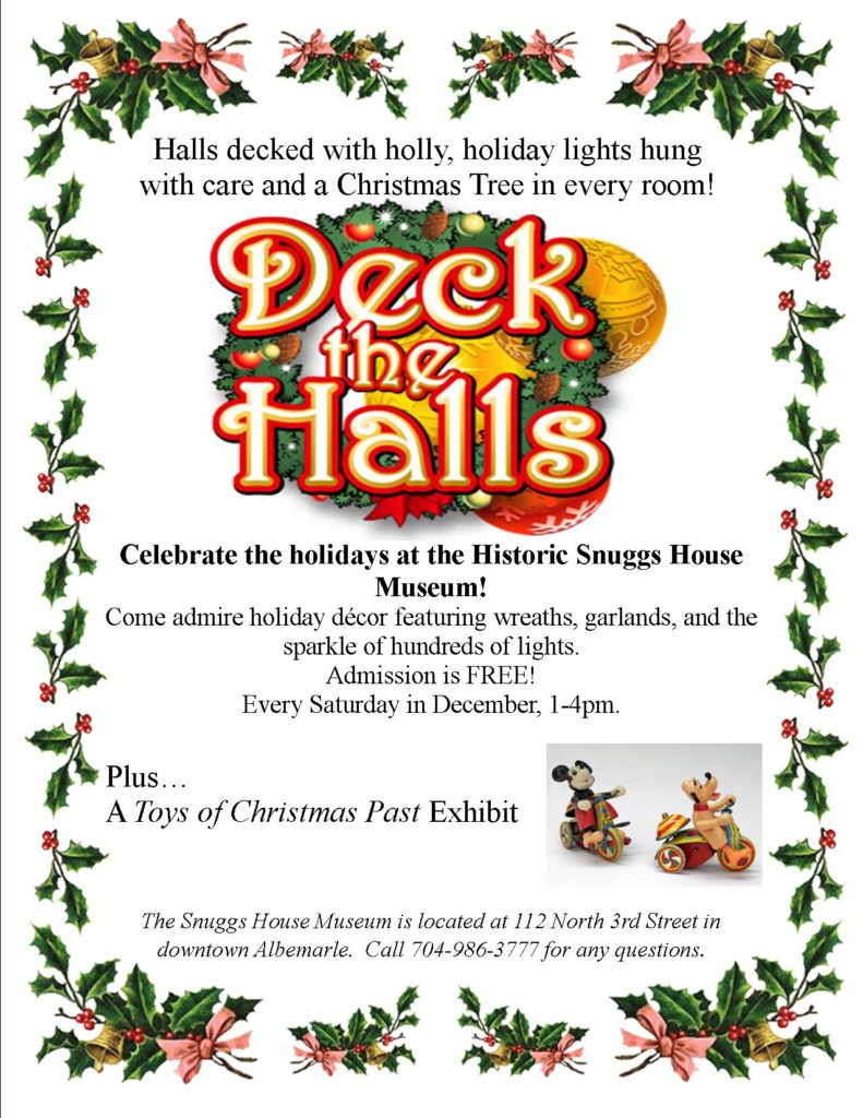 Deck the Halls at the Historic Snuggs House Museum!