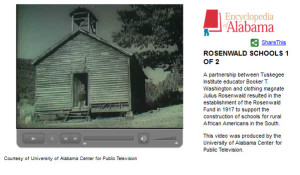 Encyclopedia of Alabama: Rosenwald Video Link 1